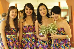 the MOHs and bridesmaids
