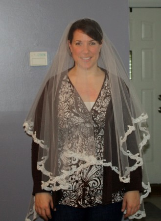 DIY wedding veil