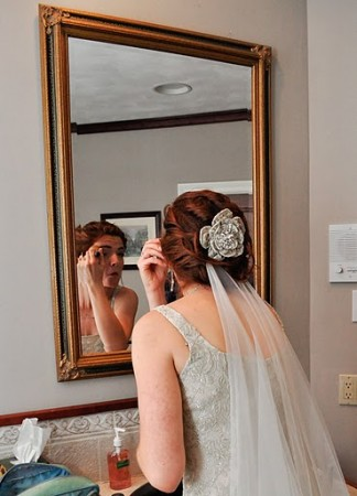 DIy wedding hair flower