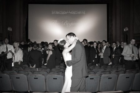 movie screen vintage wedding