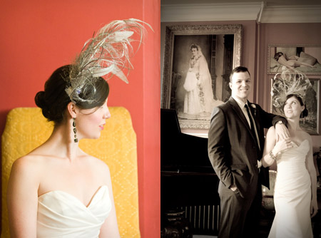 feather wedding fascinator