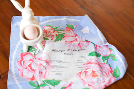 vintage handkerchief wedding