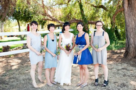 Nonmatching Bridesmaids Dresses