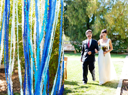 streamer garland DIY indie wedding