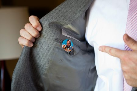 mr. t wedding pin