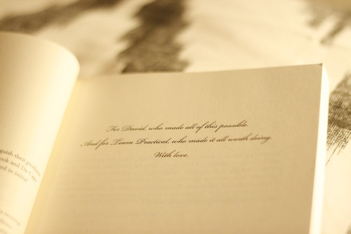 APW book dedication