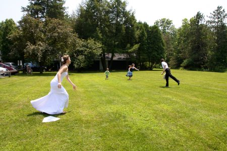 Saratoga Outdoor Wedding with Lawn Games