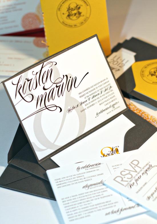 Wedding Fuzzynk Design Studio Modern Wedding Invitations