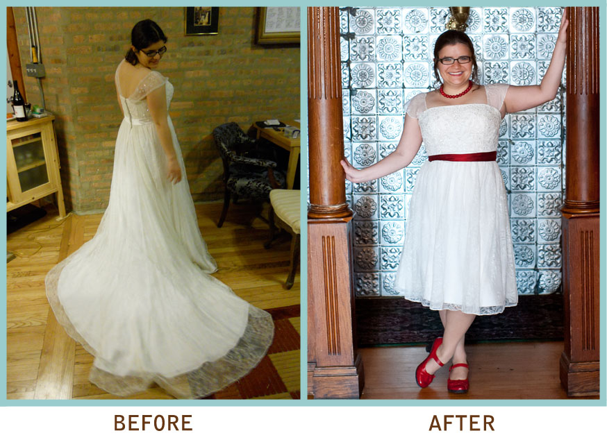 Bustle Wedding Dress Before And After F F 2017