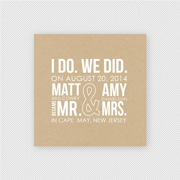 Wedding Gift Ideas For A Couple That Eloped : Elopement Announcements http://apracticalwedding.com/2013/04/elopement ...