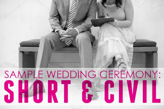 Non Religious Sample Wedding Ceremony Secular Wedding: Sample Wedding Ceremony: Short & Civil